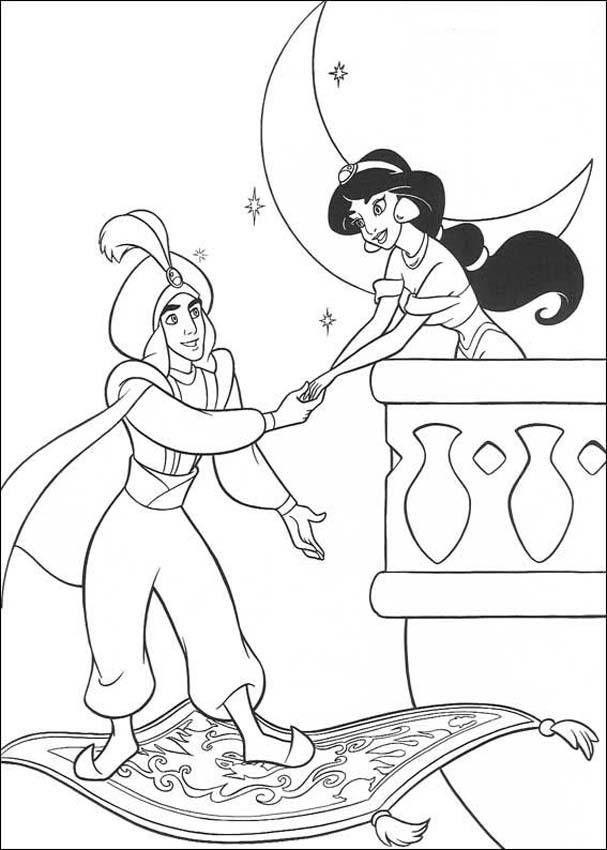 aladdin 5 aladdin en alfombra magica y jasmin
