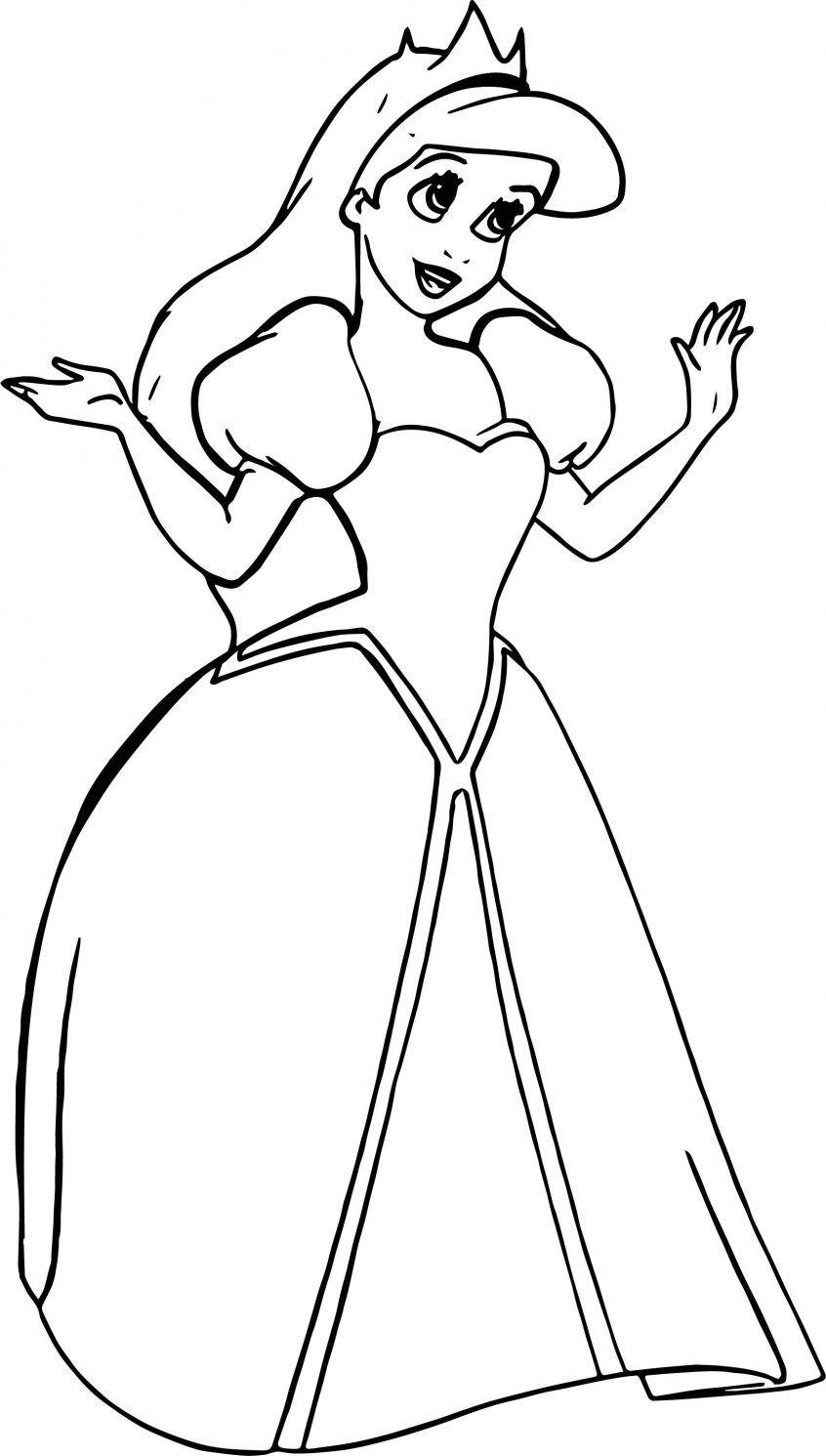 ariel la sirenita para colorear 11 vestida de princesa