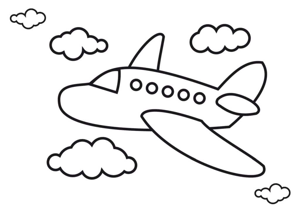 aviones para colorear 1
