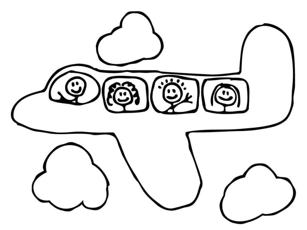aviones para colorear 10