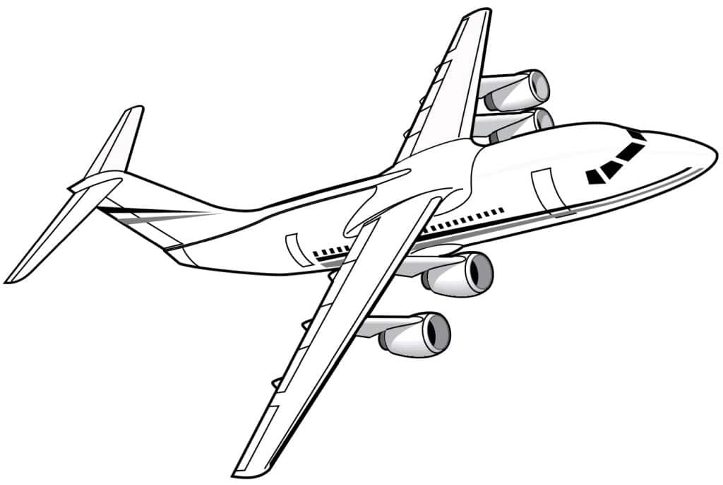 aviones para colorear 11