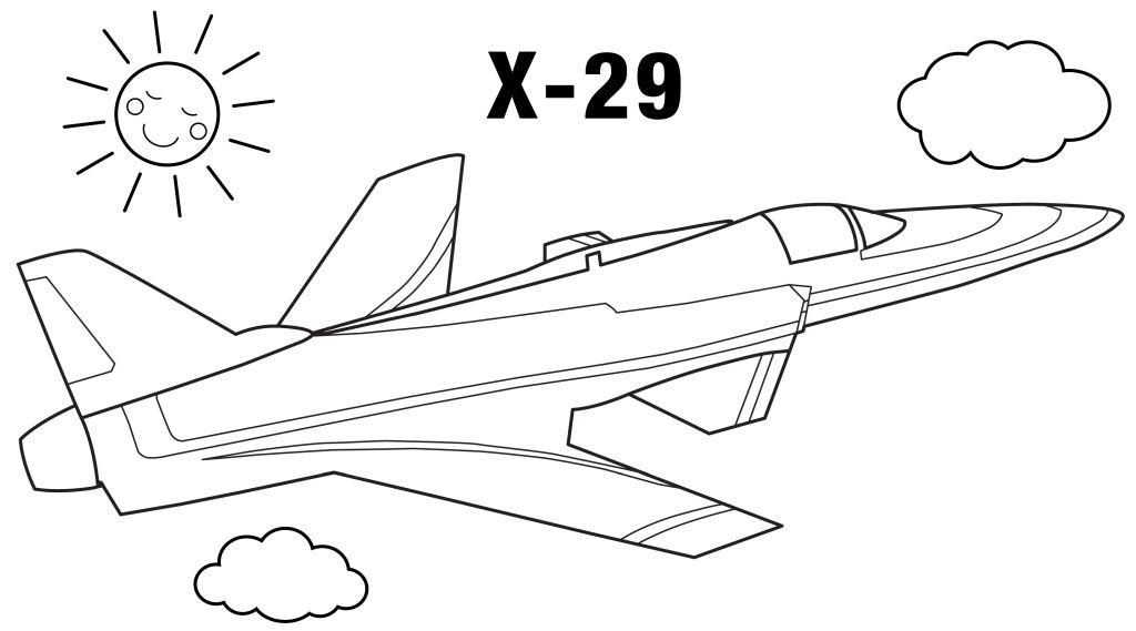 aviones para colorear 12