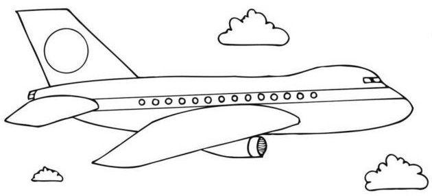aviones para colorear 13