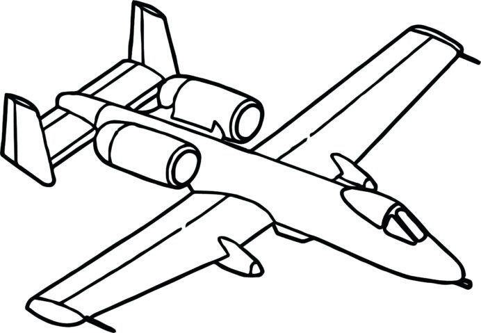 aviones para colorear 14