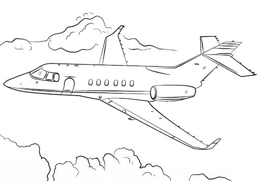 aviones para colorear 15
