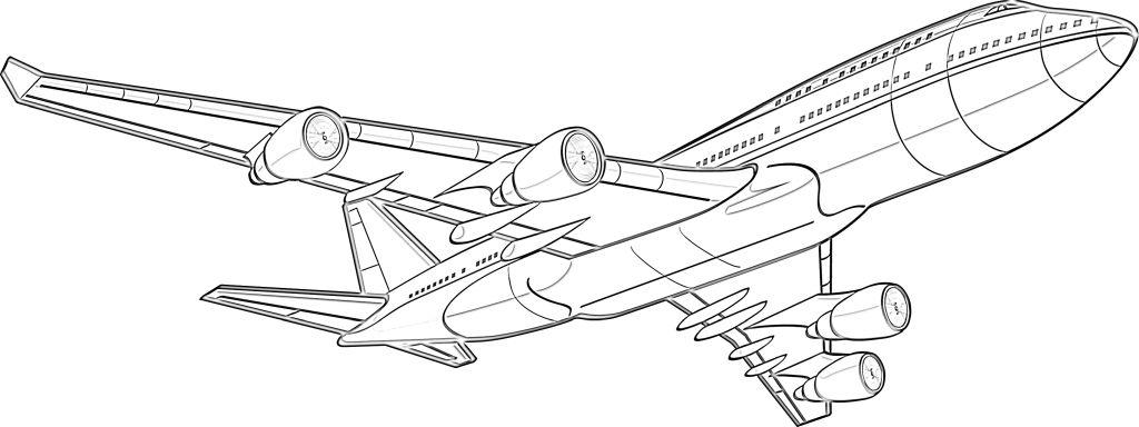 aviones para colorear 16