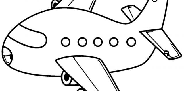 aviones para colorear 17