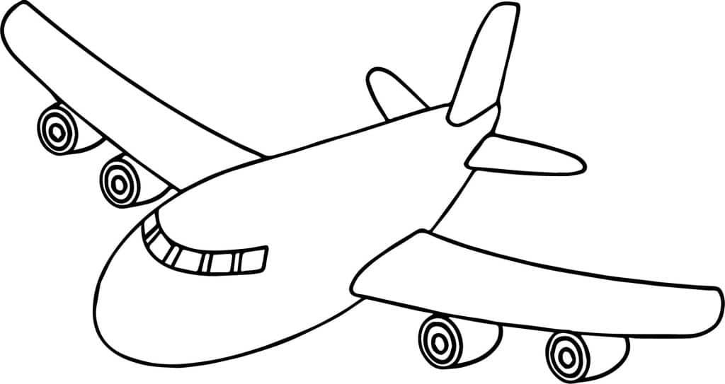 aviones para colorear 2