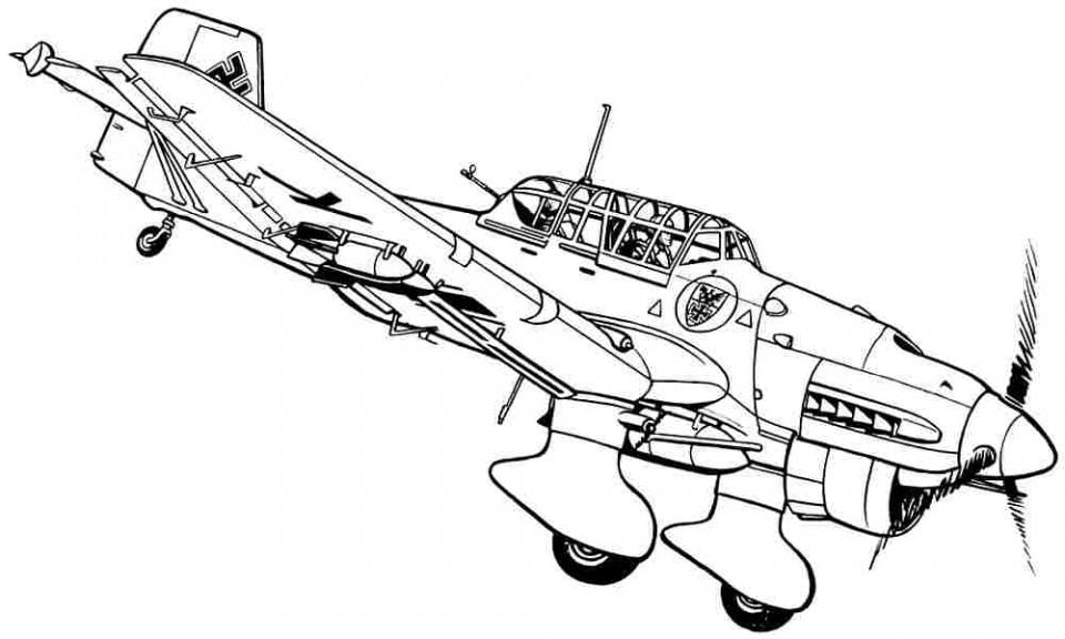 aviones para colorear 3
