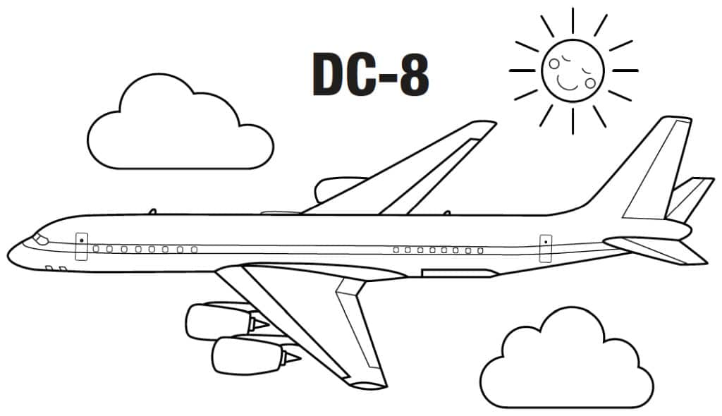aviones para colorear 4