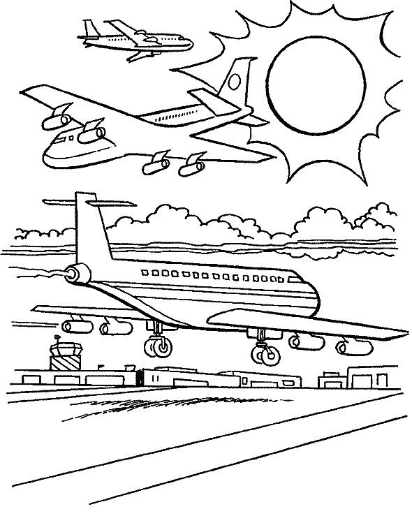 aviones para colorear 6