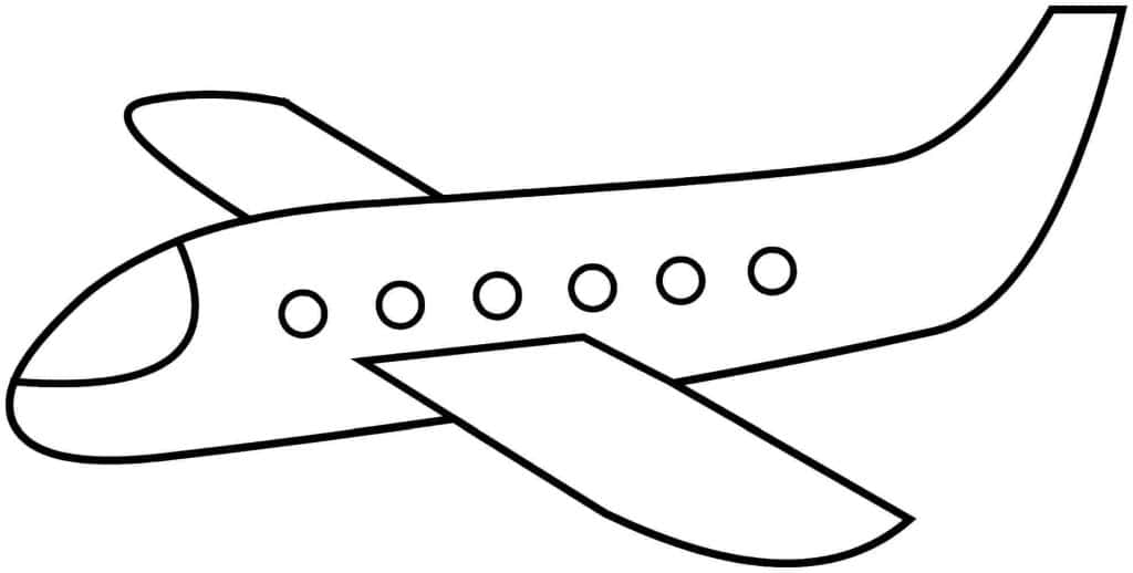 aviones para colorear 7