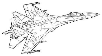 aviones para colorear 8