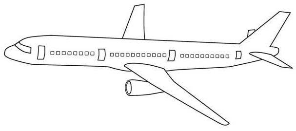 aviones para colorear 9