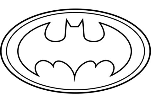 batman para colorear 1 logo