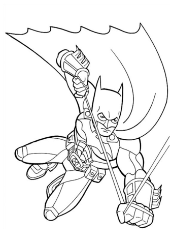 batman para colorear 12 en el aire