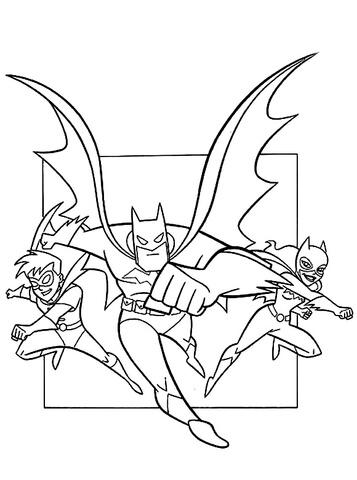 batman para colorear 19 con batwoman y robin