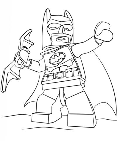 batman para colorear 41 lego