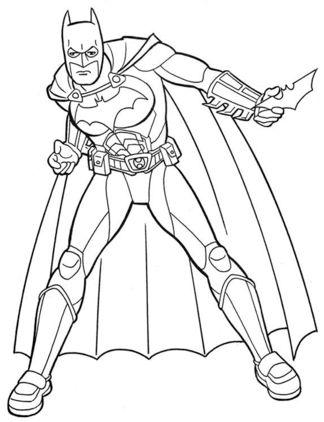 batman para colorear 6 con el batarang