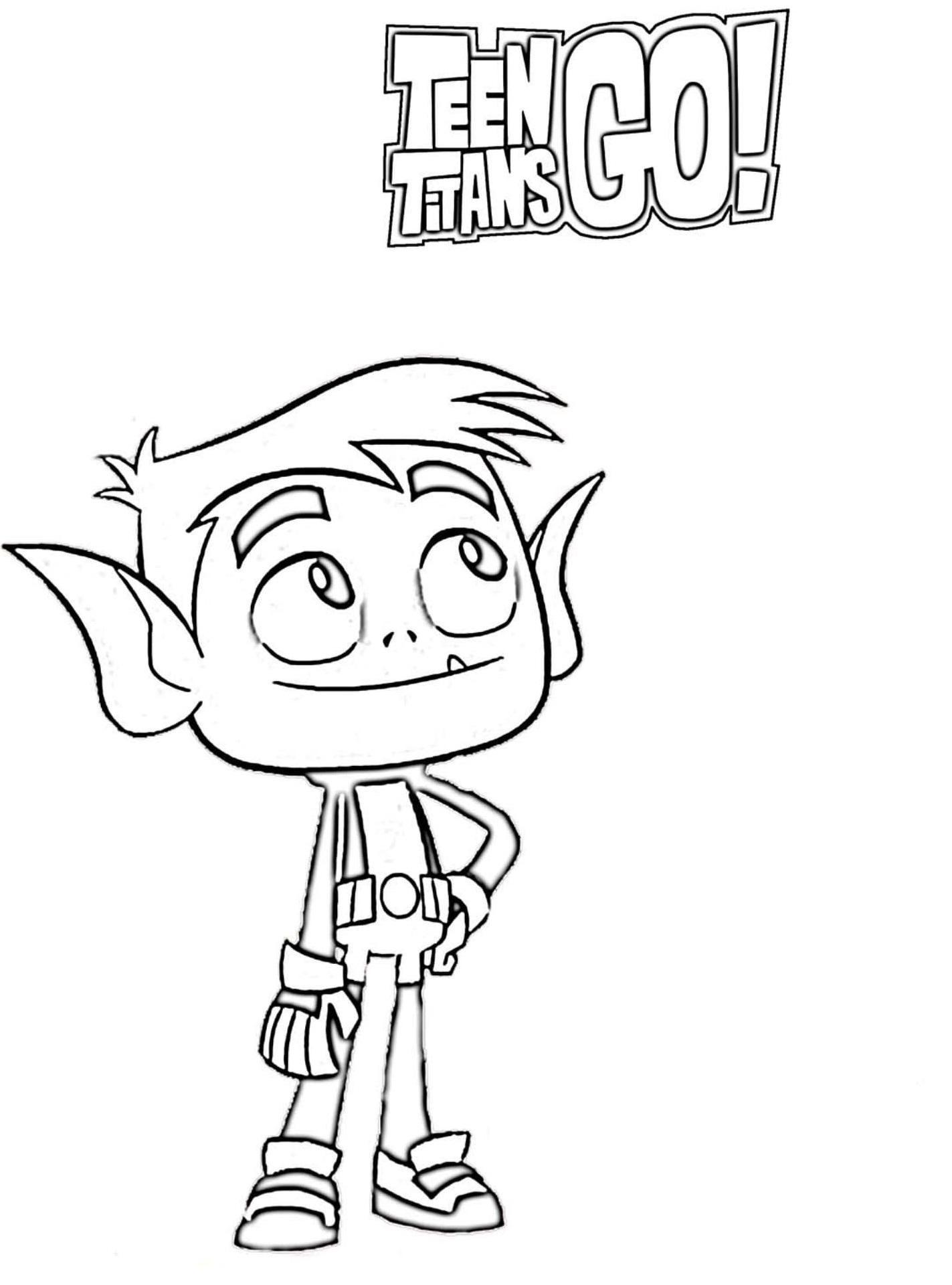 Dibujos de Beast Boy para colorear - Colorear24.com