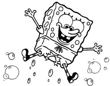 bob esponja colorear 8 burbujas