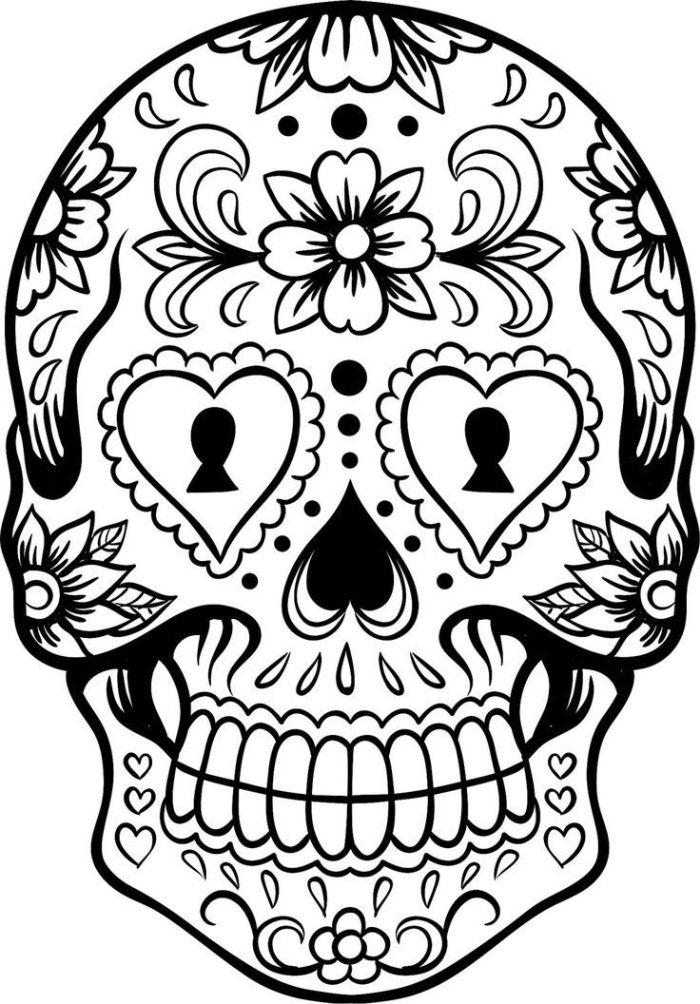 calaveras mexicanas para colorear 1