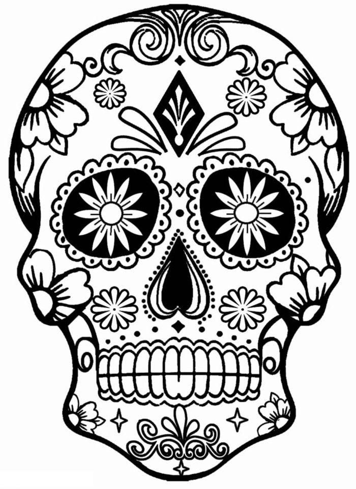 calaveras mexicanas para colorear 10
