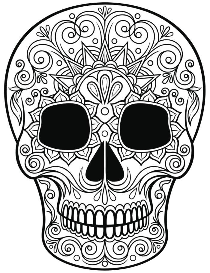 calaveras mexicanas para colorear 11