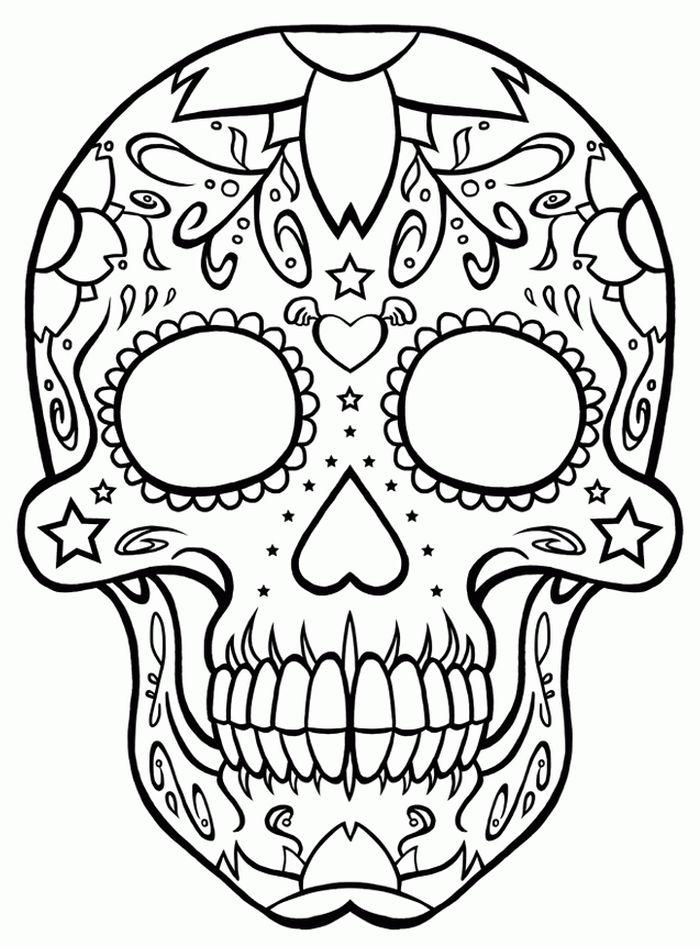 calaveras mexicanas para colorear 12