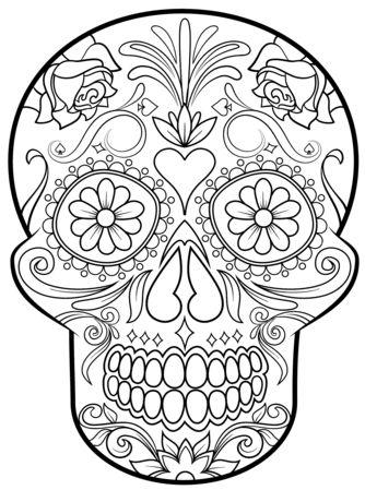 calaveras mexicanas para colorear 13