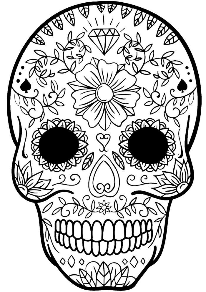 calaveras mexicanas para colorear 14