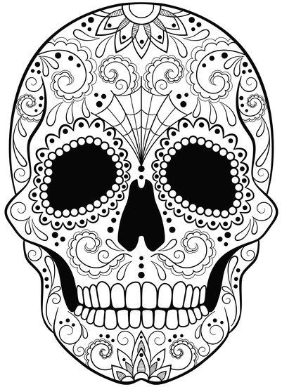 calaveras mexicanas para colorear 15