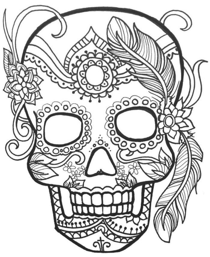 calaveras mexicanas para colorear 16