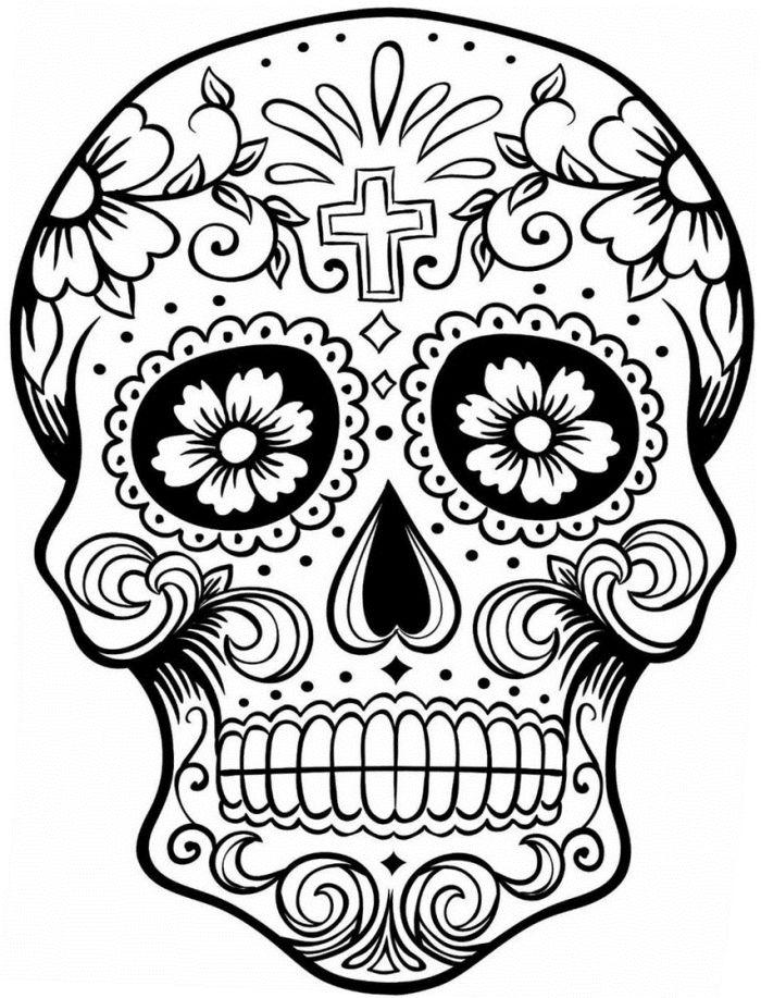calaveras mexicanas para colorear 17