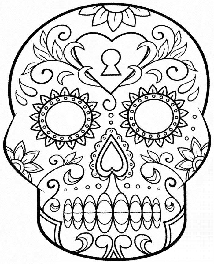 calaveras mexicanas para colorear 19