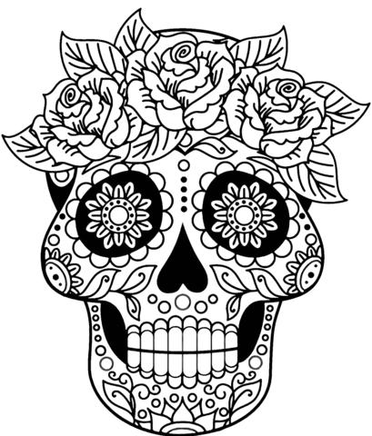 calaveras mexicanas para colorear 2