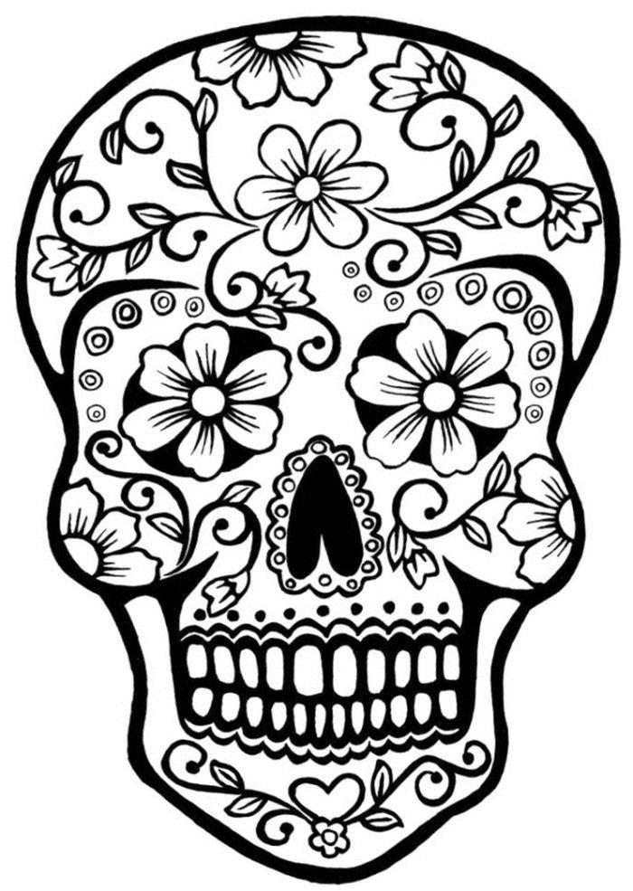 calaveras mexicanas para colorear 20