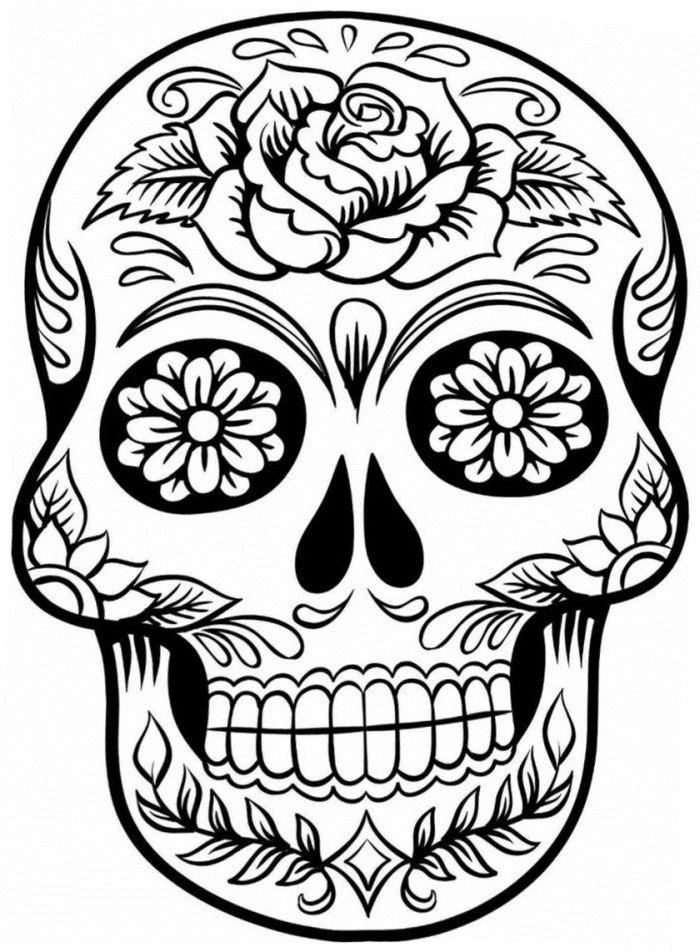calaveras mexicanas para colorear 25