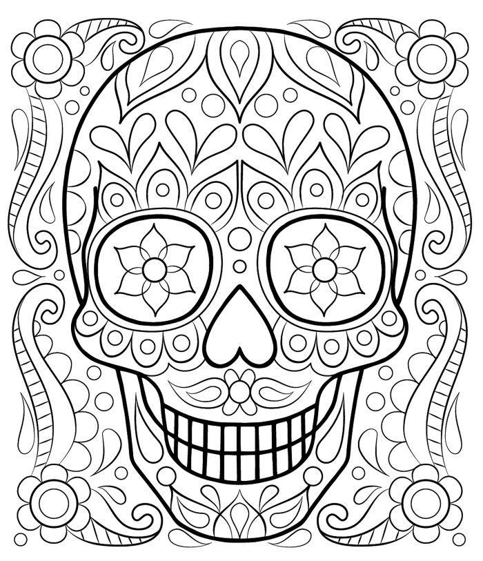 calaveras mexicanas para colorear 26