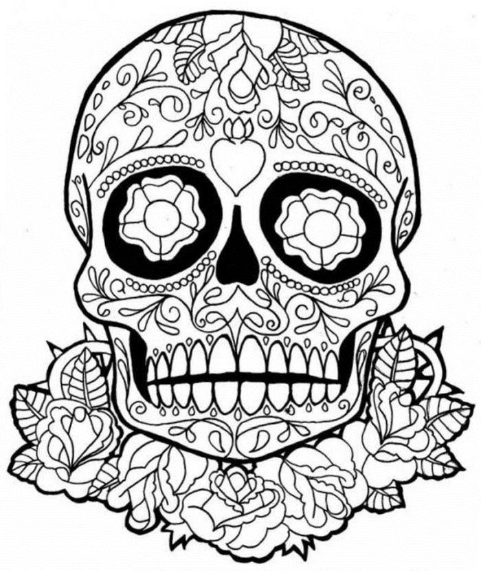 calaveras mexicanas para colorear 28