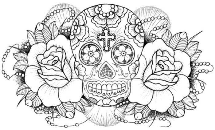 calaveras mexicanas para colorear 29