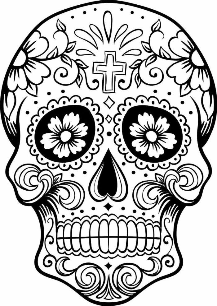 calaveras mexicanas para colorear 3