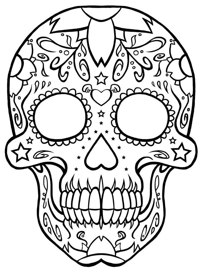 calaveras mexicanas para colorear 30