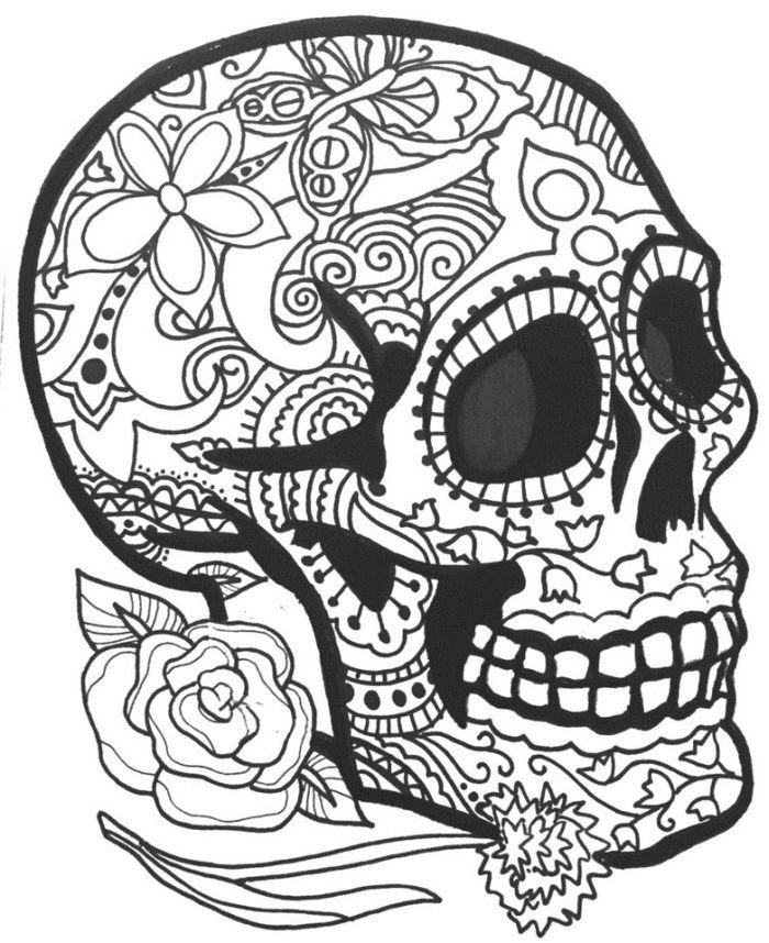 calaveras mexicanas para colorear 32