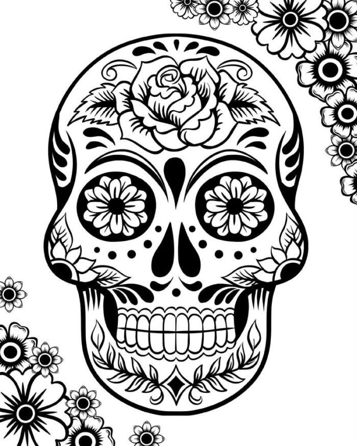 calaveras mexicanas para colorear 7