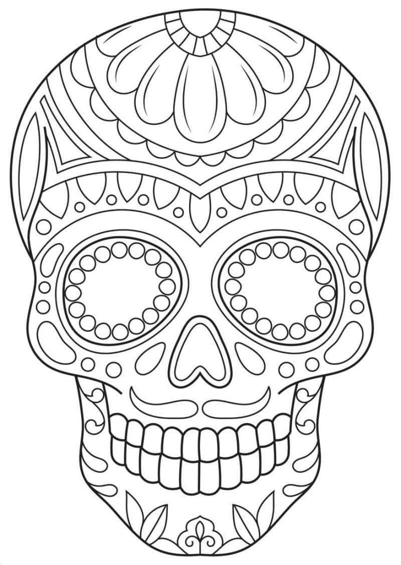 calaveras mexicanas para colorear 8