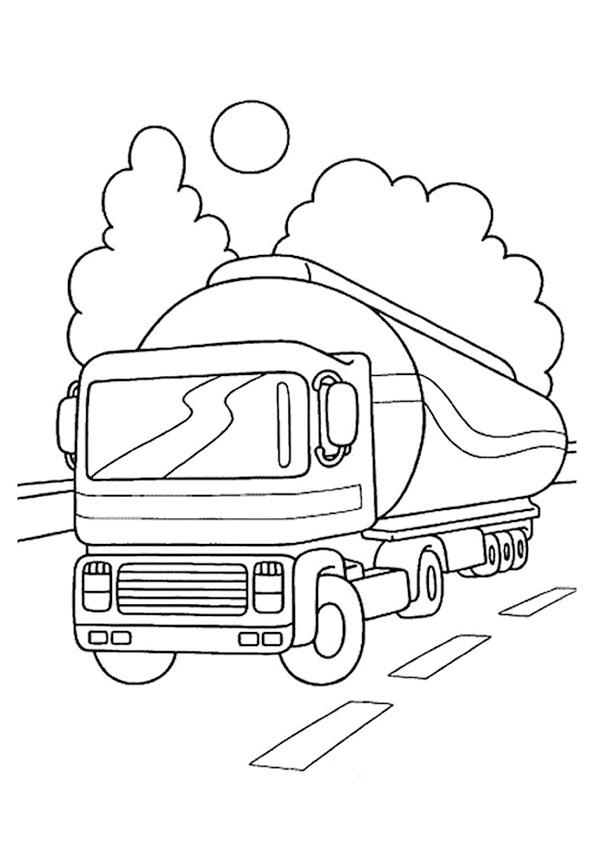 camiones para colorear 1