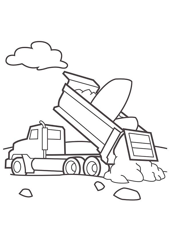 camiones para colorear 10 camion de obras