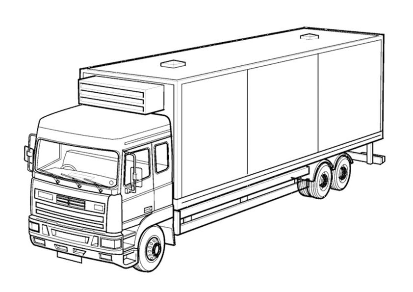 camiones para colorear 11