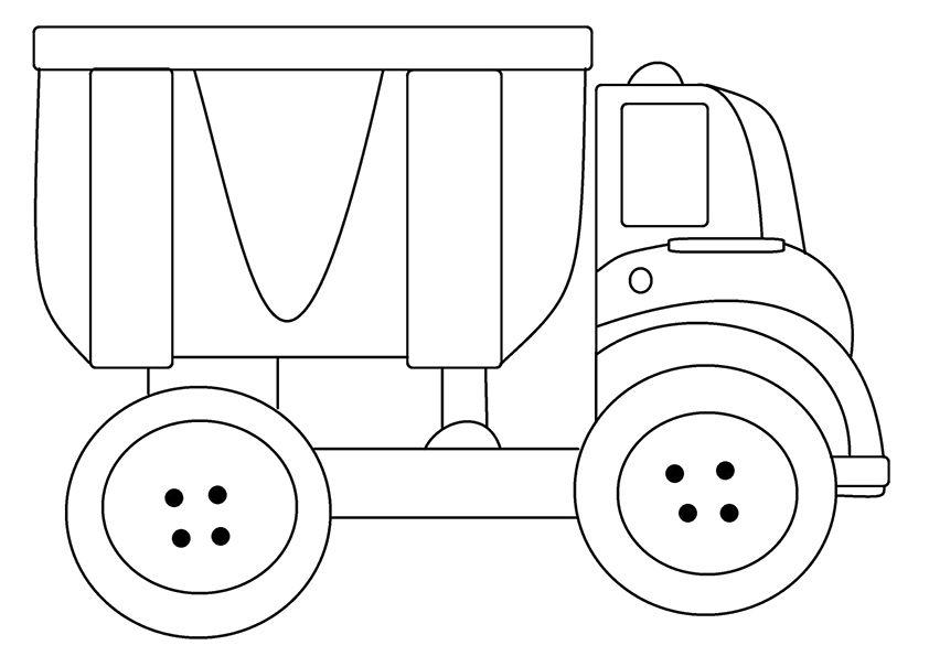camiones para colorear 13